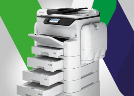 Tintenstrahldrucker, Epson, Büro, System, Multifunktion, MFP